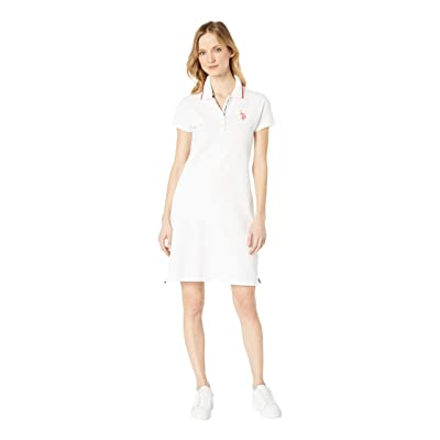 U.S. POLO ASSN. Plain Polo Dress (Optic White) Women