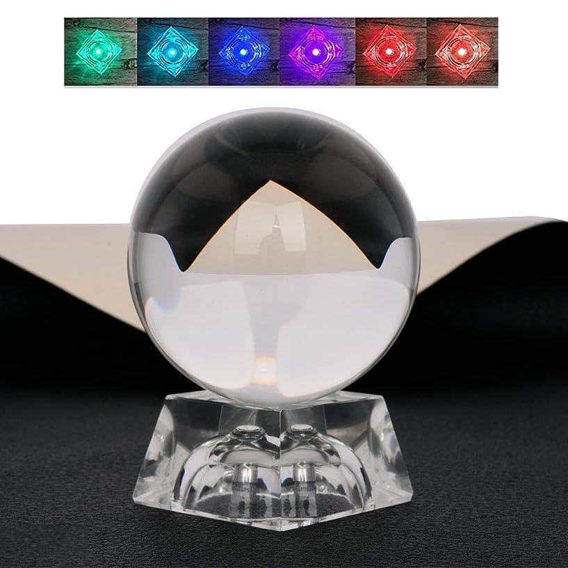 テレビを見る慣性発生するmerrynine クリスタルボール 80mm 水晶玉 LEDクリスタルスタンド付き レンズボール 収納バッグ 拭き取り布付 撮影 インテリア飾り 人気ギフト