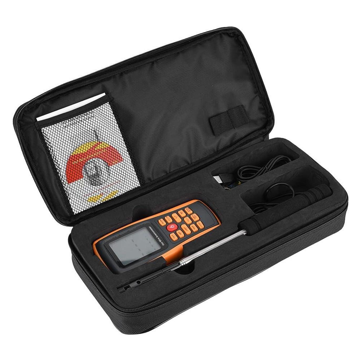 続ける無臭登山家デジタル風速計LCDポータブルデジタルホットワイヤ風速温度計風速計GM8903マニュアルとセンサー付きウィンドサーフィンモデル航空機、セーリング、サーフィン、射撃屋外活動