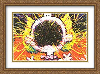 Big Loud Screaming Blonde 2X Matted 40x28 Large Gold Ornate Framed Art Print by Tom Everhart