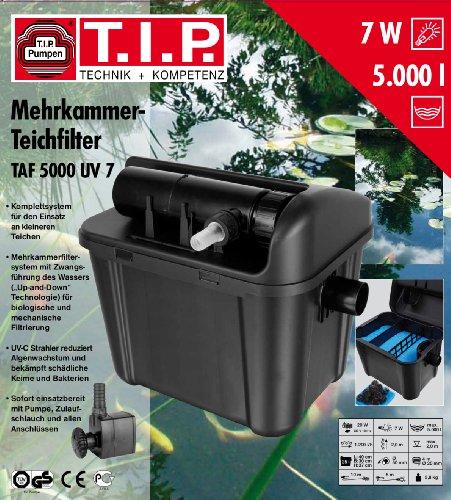 T.I.P. Teichaußenfilter TAF 5000 UV 7, UV-C 7 Watt, für Teiche bis zu 5.000 Liter - 5