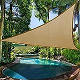 Protección solar en la piscina, jardín, toldo, toldo para plantas, lona de protección UV para balcón, toldo con cuerdas de fijación, toldo para camping, para terraza, balcón y jardín (4 x 4 x 4 m)