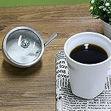 Kleine Zuckerdose, [300 ML (10 OZ oder 1,25 Cup)], Newness Edelstahl Zuckerdose mit Deckel Glas Oblique Öffnung (für besseren Anerkennung) und Zucker Löffel für Haus und Küche - 4