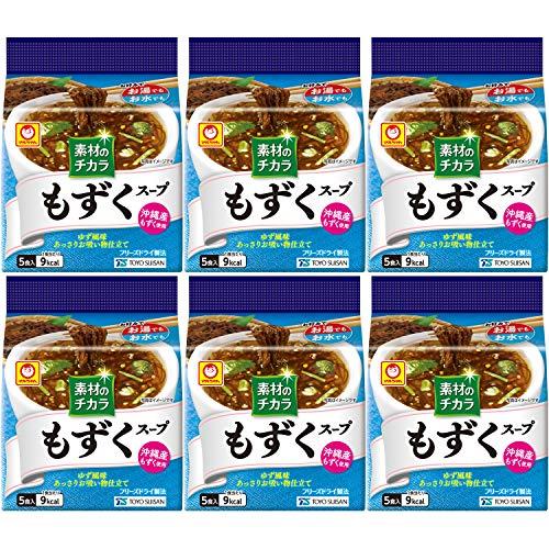 マルちゃん 沖縄産もずくスープ5P×6袋