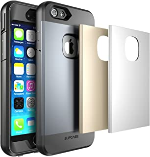 iPhone 6 Plus Case, SUPCASE Full-body Rugged Water Resistant Case for Apple iPhone 6 Plus 5.5 inch with Built-in Screen Protector and 3 Interchangeable Covers, Retail Package (Space Gray/Silver/Gold)