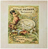 3drose LLC 8x 8x 0.25インチマウスパッドのイメージPretty Paris香水ヴィンテージラベル( MP _ 174683_ 1)