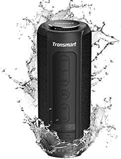 Tronsmart T6 Plus Enceinte Bluetooth 40W, Haut Parleur Portable d'extérieur avec Powerbank, 15 Heures Playtime, étanche IP...