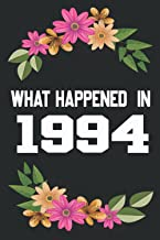 What Happened In 1994: What Happened During Your Birth Year Gift Journal: The Year You Were Born Book 6x9 inch 100 Page Jo...