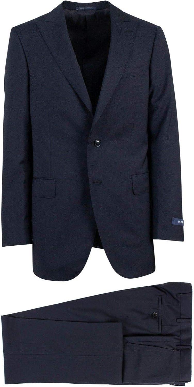 Pal Zileri Men's Navy Wool Two Button Suit 50/ XL Drop 6 40 Blue
