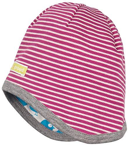 loud + proud Unisex Baby dwustronna czapka z bawełny ekologicznej, czapka z certyfikatem Gots