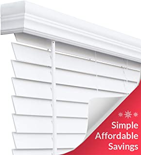 CHICOLOGY Cordless Faux Wood Blinds 2 inch Slats, 36