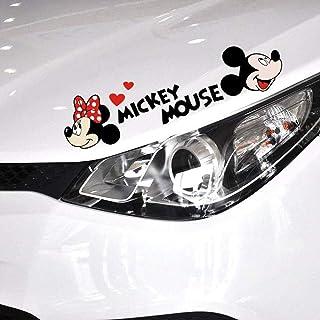 Minnie Mouse Wandtattoo Niedliche Cartoon Mickey Mouse Minnie Auto Aufkleber und Aufkleber Autozubehör Auto Aufkleber