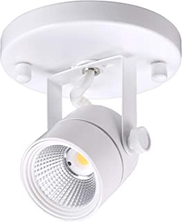 Cloudy Bay LED Flush Mount Ceiling Spot Light,CRI90+ 3000K Warm White Dimmable,Adjustable Tilt Angle Ceiling Light Fixture,White Finish