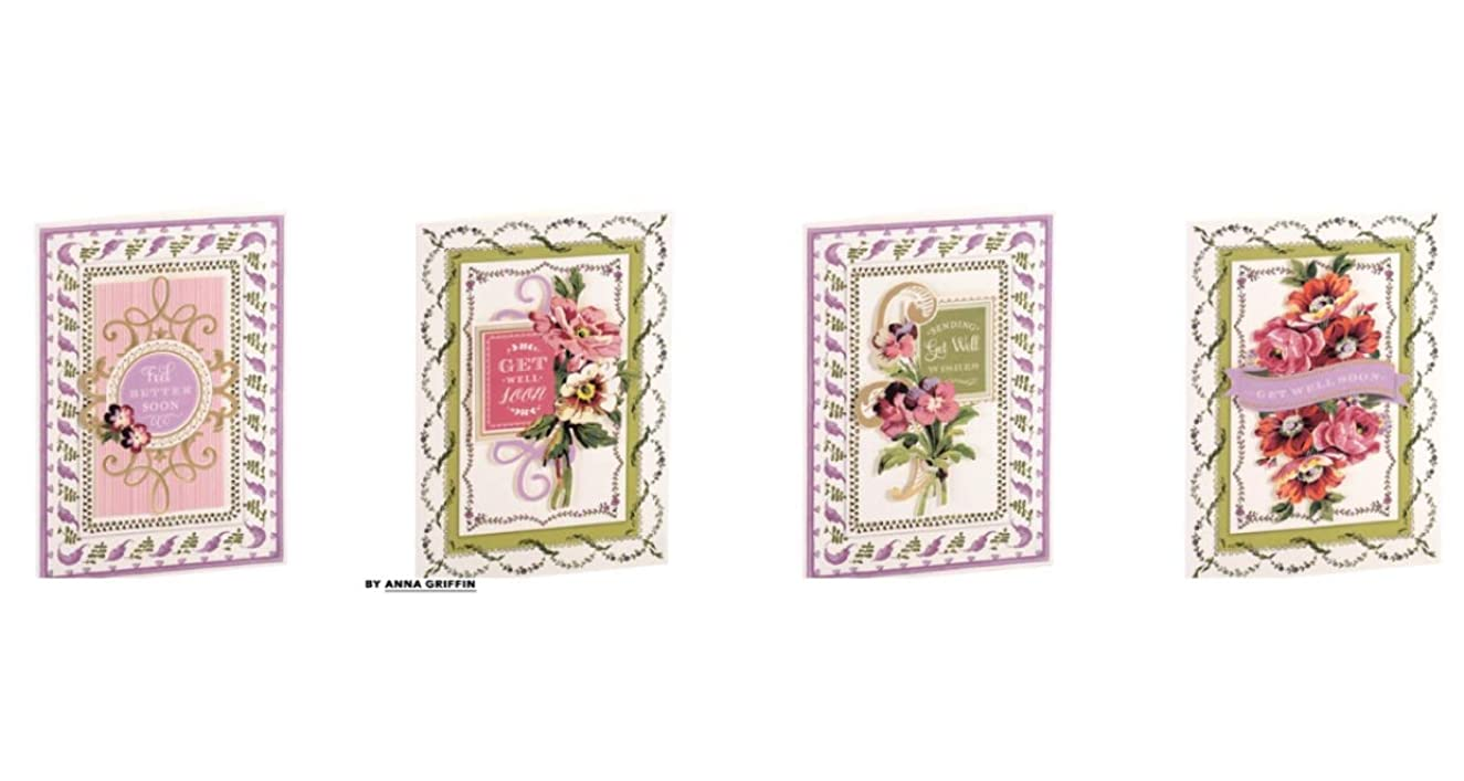 Anna Griffin | Get Well Painted Cardmaking Kit | Makes 4 Cards | SB719
