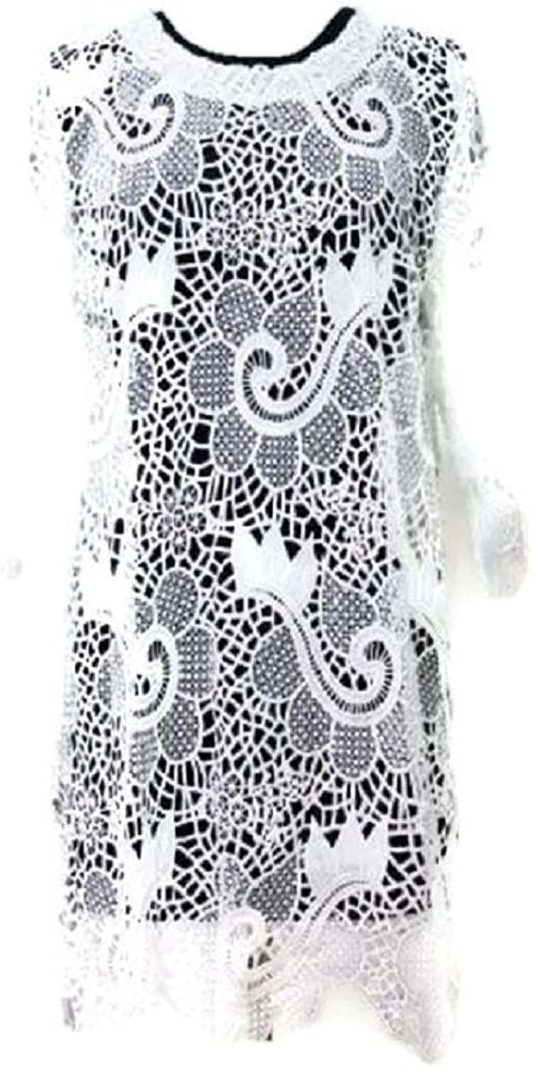 Women's trendy crochet top with floral design, 100% Cotton, Sold only in a prepack, 2M2L2XL