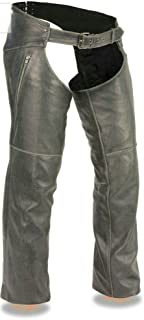 Milwaukee Leather Slate Chap with Deep Thigh Zippered Pocket, 1 Pack