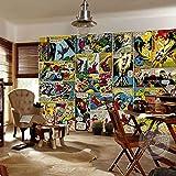 Marvel Comics Fototapete 3D Wandtapete Captain America Fototapete Kinder Jungen Schlafzimmer Büro Laden Art Room Dekoration Hulk 300 * 210cm