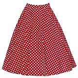YiLianDa Falda Mujer Elástica Plisada Básica Patinador Multifuncional Lunares Corto Falda Rojo 3XL