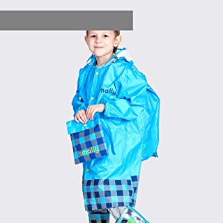 TXOZ Waterproof Raincoat Poncho, Hooded Raincoat with Oversized Hat, Reusable, Emergency Raincoat, Increased Bag Position, Outdoor Camping Trip, (Color : Blue, Size : S)