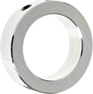 Climax Metal C-043 Shaft Collar, One Piece, Set Screw Style, Zinc Plated Steel,, 7/16