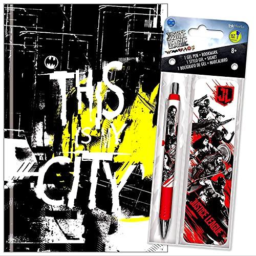 Batman - Cuaderno de tapa dura con bolígrafo de gel y marcapáginas