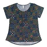 Lularoe Women's Classic T- Short Sleeves-Scoop Neck-Hi-Lo Hem Wear All Day and Night (Pattern 38, 3XL)