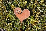 Unbekannt Herz auf Stab Gartenstecker Metall Rost Edelrost Rostfigur Deko Dekoration Deko-Idee Dekoherz Rostdeko Gartendeko Geschenk-Idee Geschenk
