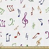 ABAKUHAUS Musik Gewebe als Meterware, Aquarell Sonic