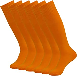 Team Sport Uniform Socks, Diwollsam 2/6/10 Pairs Men's Women's Knee High Tube Football Soccer Volleyball Casual Socks