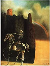 Alonline Art - Horseman Of Death by Salvador Dali | print on high quality fine art photo paper poster (Rolled) | 20