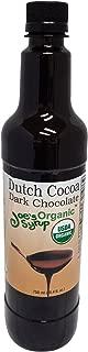 Joe's Syrup Organic Flavored Syrup, Organic Dutch Cocoa Dark Chocolate Sauce, 750 ml