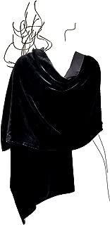 Luxury Silk Base Velvet Stole,Pure Silk Lining,78
