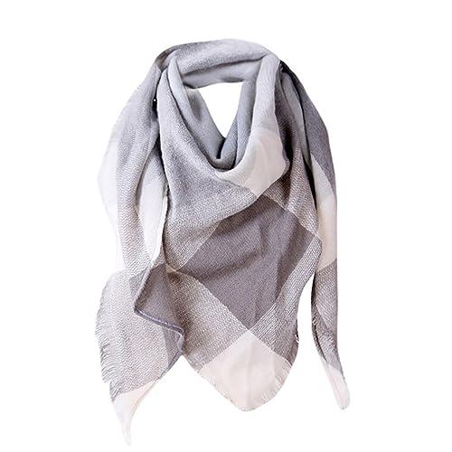 3845055de6280 foulards, Tefamore Femmes châle en cachemire automne écharpe en laine à  carreaux écharpe