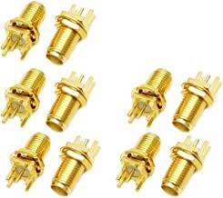 Yootop 10Pcs SMA Female Connectors Center Solder with PCB Mount RF Connector SMA-KE