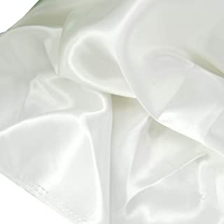 """Satin Fabric White Color for Wedding Dress Decoration DIY Crafts 60"""" by 1 Yard"""