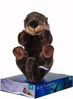 Posh Paws 12454 BBC Blue Planet II Sea Otter - Olla de Peluche con Soporte (25 cm), Color marrón