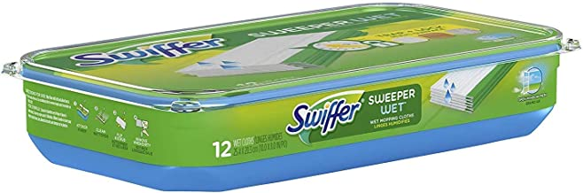 Swiffer Sweeper Wet Mopping Pad Refills for Floor Mop Open Window Fresh Scent 12 Count(Pack of 6) 1 Pack