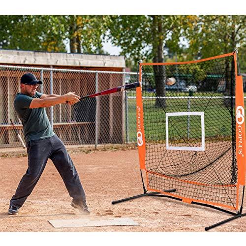 Purchase Sporting Goods Athletics Softball 5x5 Feet Portable Durable Baseball Tee-Ball Soft-Toss Pra...