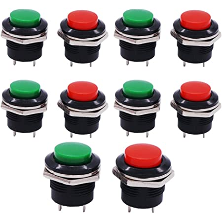 1Pcs Green 12Mm Waterproof Momentary Push Button Switch Mini Round Switch gc
