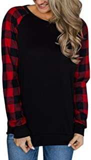 Kulywon Women O-Neck Long Sleeve Sweatshirt Pullover Tops Blouse Shirt