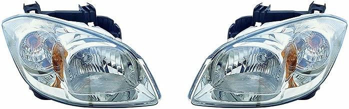 Fits Chevrolet Cobalt 05-10 Headlight Assembly W/Bracket(09-10 Base.08-10 LS.LT(08 Smoke).08 Sport(Smoke).05-10 SS 2.0L Engine Model Pair Driver and Passenger Side (DOT Certified)
