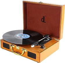 Tocadiscos dl Record Player con 3 velocidades 33/45/78 Vinyl