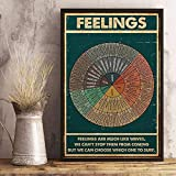 Feelings Wheel Poster Feelings are Much Like Waves We Can't Stop Them from Coming Poster Living Home Décor Poster