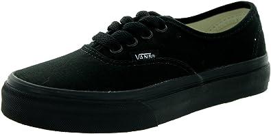 Vans Kids Authentic Black/Black VN000WWXENR Kids Size 2.5