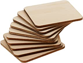 Sharplace Plaque en Bois MDF Carré Ornement de Décoration Artisanat DIY Pièce en Bois - 60x60mm 10 pièces