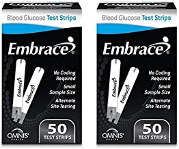Omnis Health Embrace Blood Glucose Test Strips, 100ct