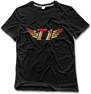 Men's SKT T1 Logo Tee Shirt Medium Black