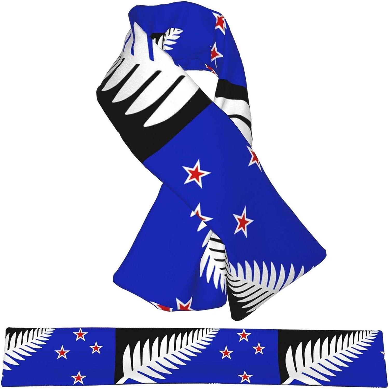 Winter Scarfs New Zealand Flag Scarves Wraps Neck Warmer Flannel Winter Cross Tie Scarves
