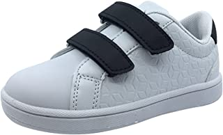 My Brooklyn Boy's and Girl's Vegan Durable Lightweight Reinforced Toe Double Hook and Loop Sneaker