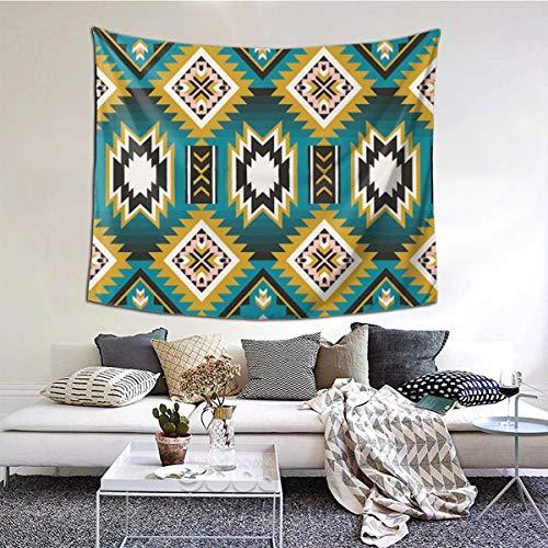 Tapiz de Pared, Indio Americano Nativo Azteca geométrica Imagen Vectorial Tapiz para Colgar en la Pared para el Dormitorio Sala de Estar Dormitorio Decoración de la Pared Tapiz de Arte 60x51 Pulgadas